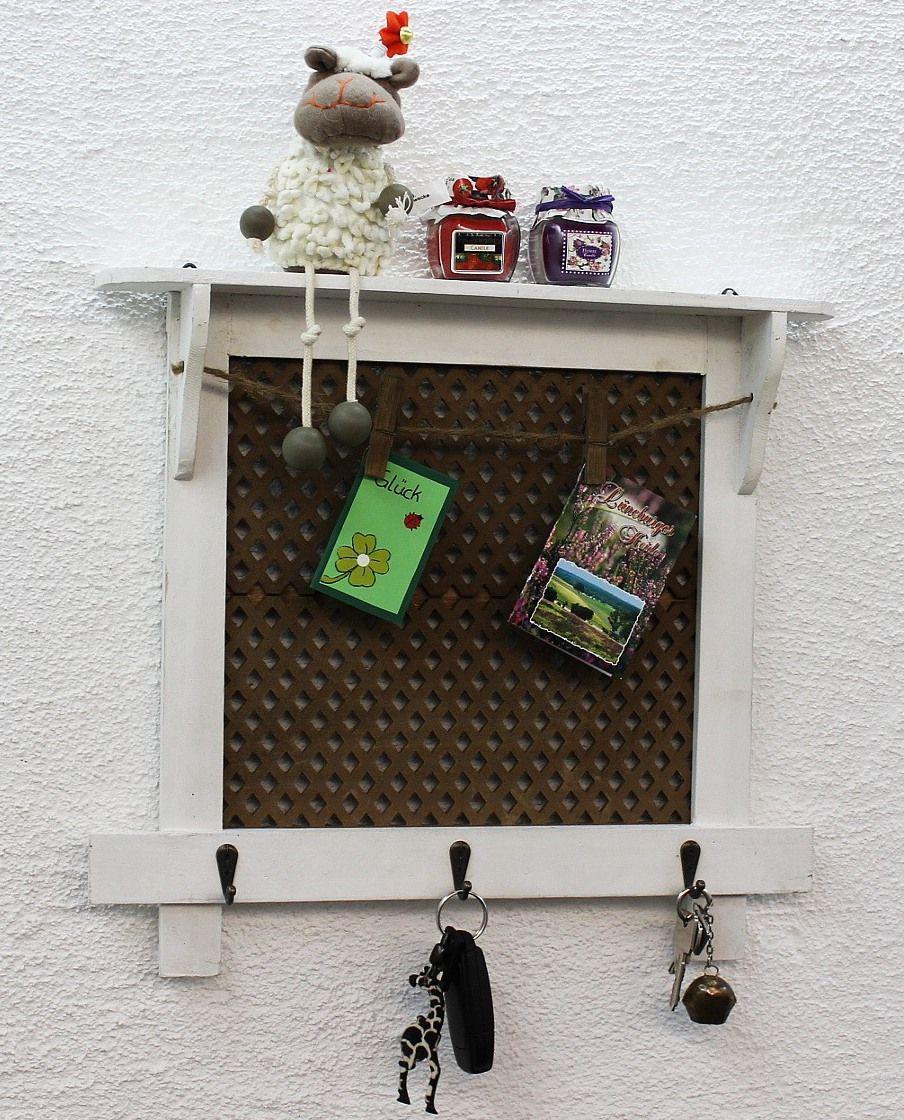 memoboard pinnwand 43 cm loft 12047 wandregal vintage shabby hakenleiste haken ebay. Black Bedroom Furniture Sets. Home Design Ideas