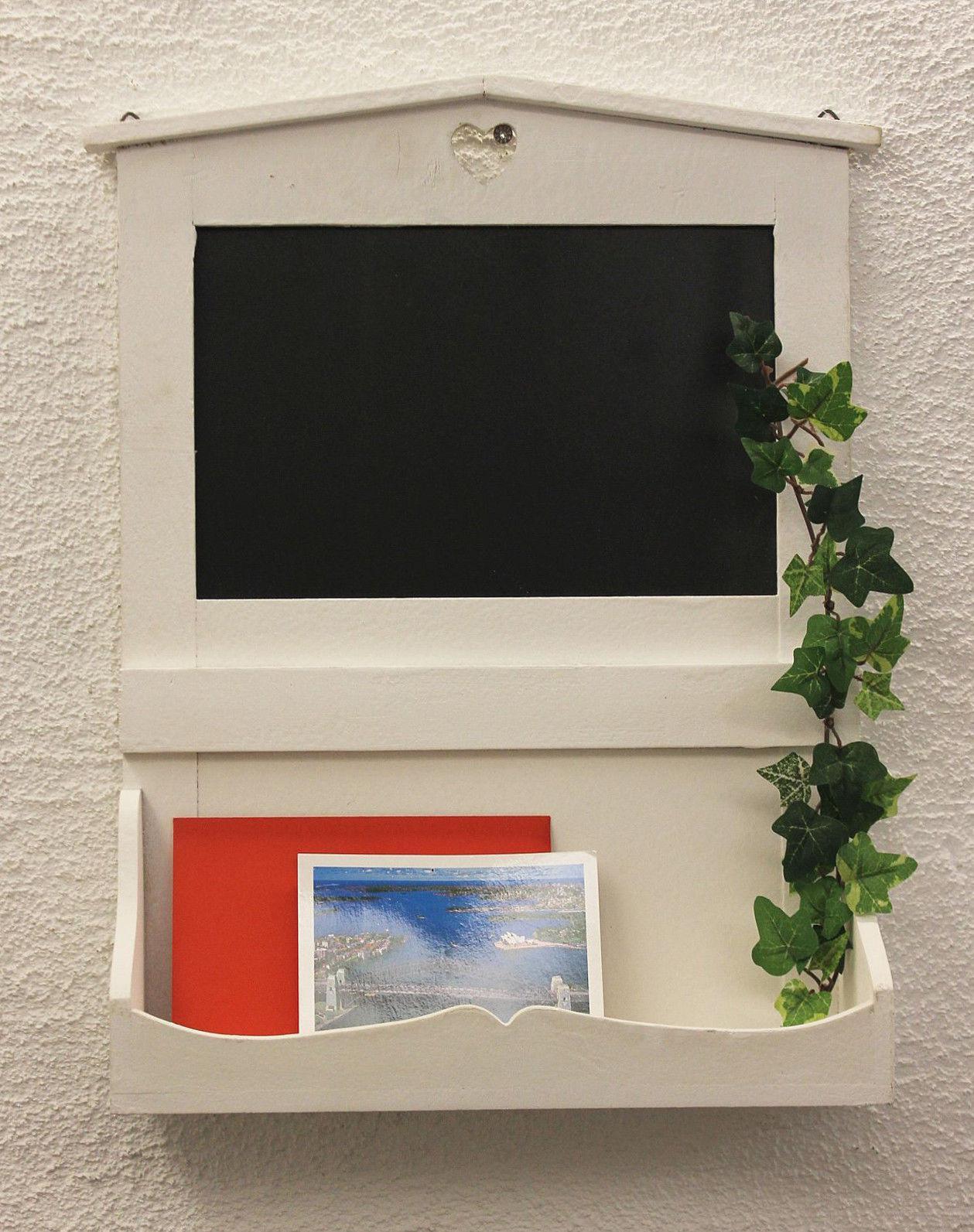 notiztafel 12041 kreidetafel 47 cm wandregal shabby memotafel infobrett briefe ebay. Black Bedroom Furniture Sets. Home Design Ideas