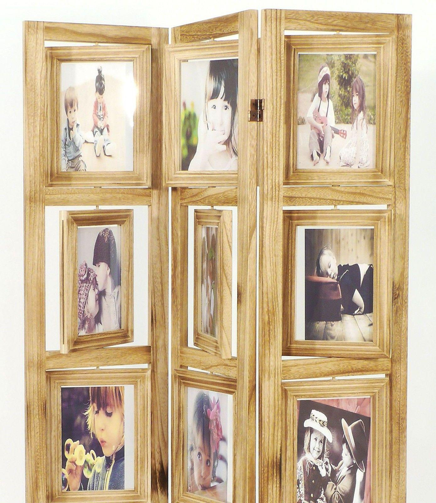 Trennwand Aus Holz Im Schlafzimmer: Paravent Mit Bilderrahmen 16930 Raumteiler 161 Cm Holz