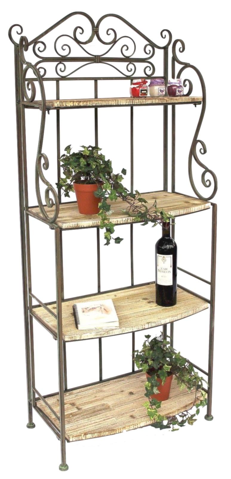 Tag re malega 12060 en m tal et bois 150 cm livres - Etagere metal salle de bain ...