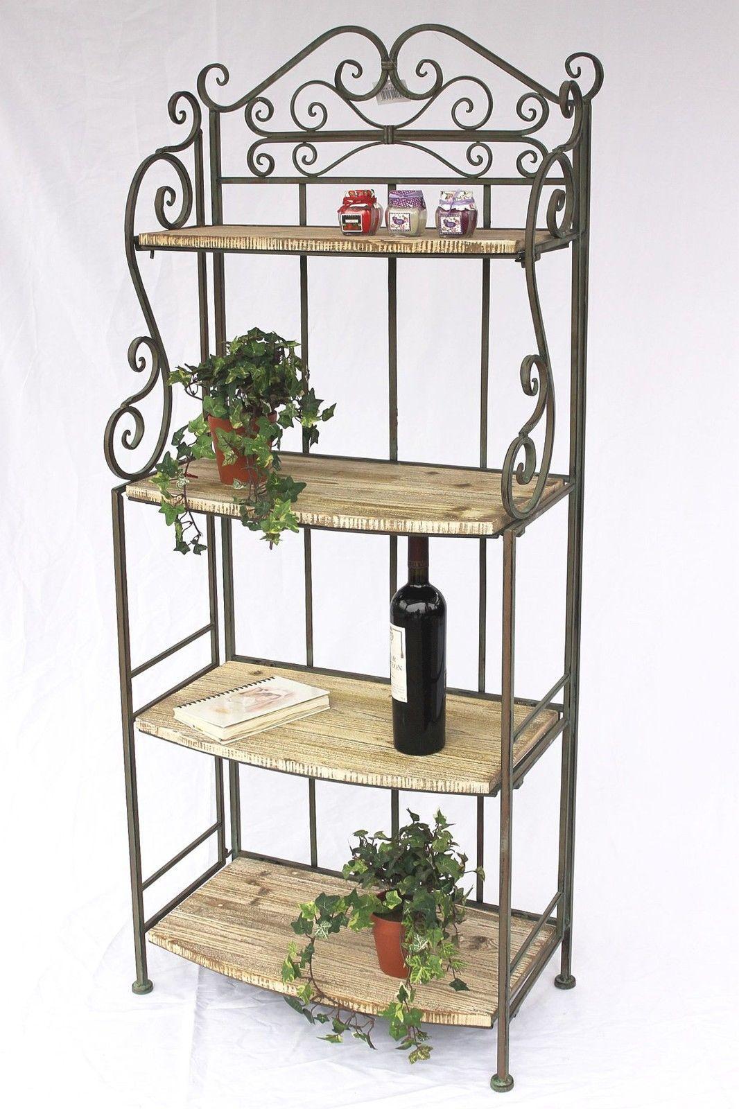 regal malega 12060 aus metall und holz 150 cm. Black Bedroom Furniture Sets. Home Design Ideas
