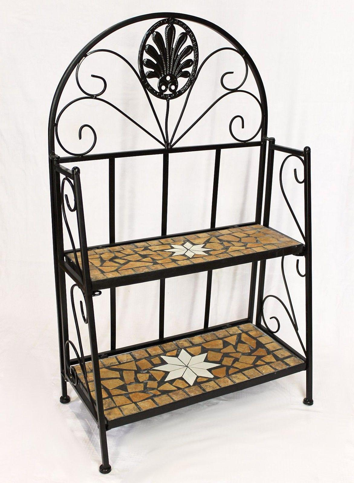 regal mosaik merano 12006 b cherregal 80 cm aus metall schmiedeeisen badregal ebay. Black Bedroom Furniture Sets. Home Design Ideas