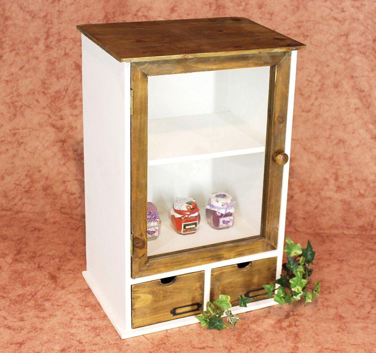 Schrank Minivitrine 12024 Küchenschrank Regal 50 Cm Shabby