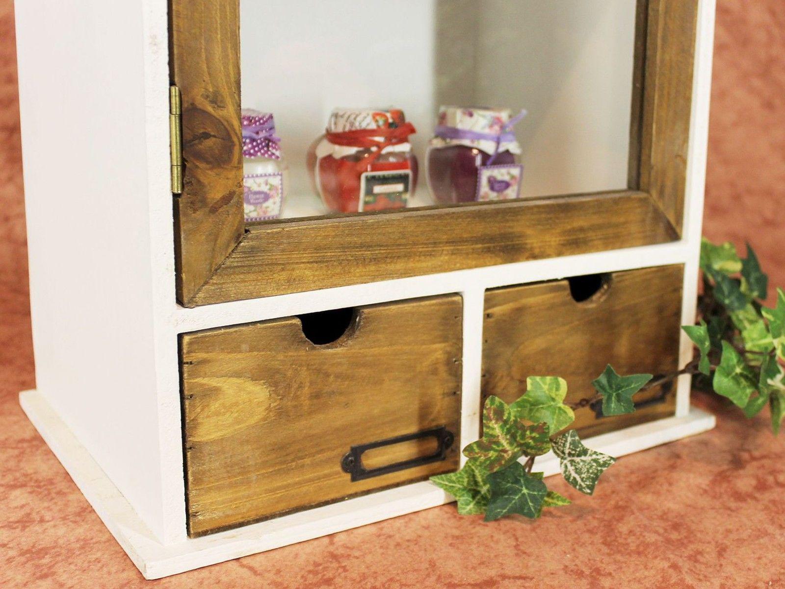 schrank minivitrine 12024 k chenschrank regal 50 cm shabby. Black Bedroom Furniture Sets. Home Design Ideas