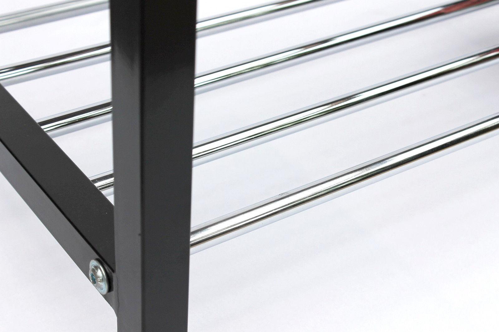 schuhregal schuhbank 70 cm schuhschrank aus metall schuhablage modern ebay. Black Bedroom Furniture Sets. Home Design Ideas