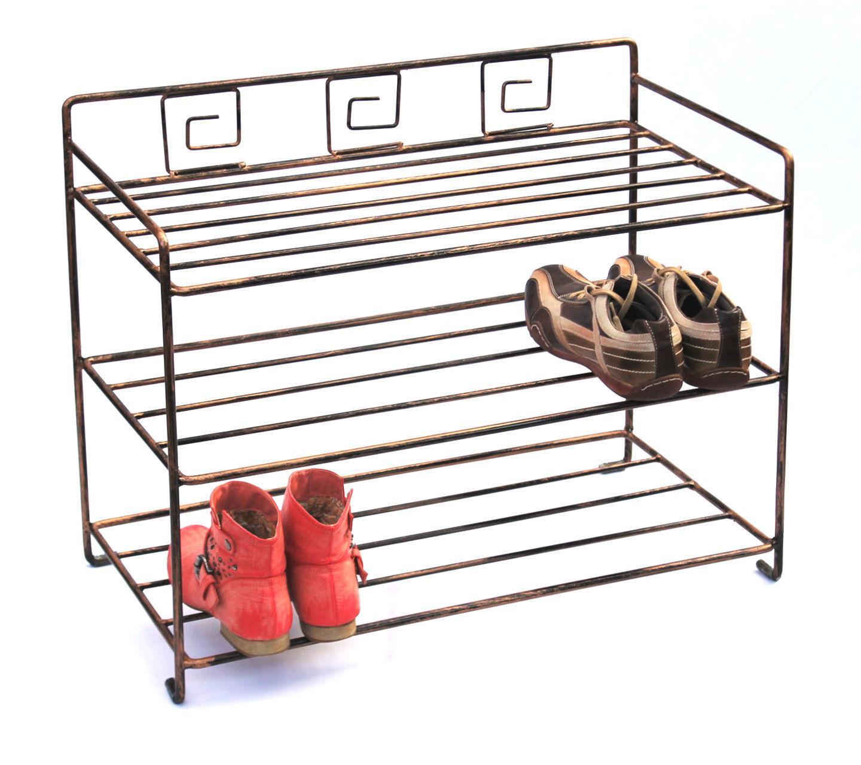 schuhregal schuhablage 72 cm schuhschrank regal metall schmiedeeisen ebay. Black Bedroom Furniture Sets. Home Design Ideas