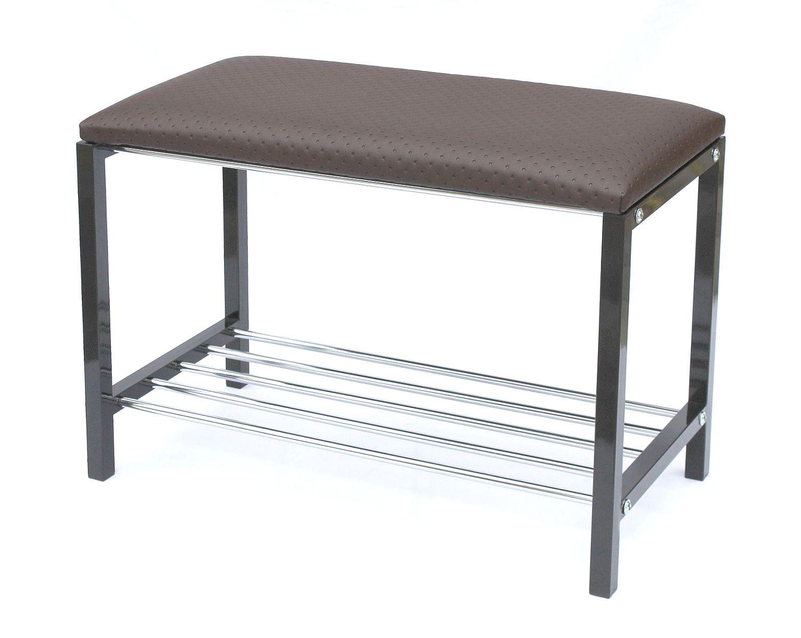 Schuhregal mit Sitzbank Art.391 Bank 70 cm Schuhschrank aus Metall ...