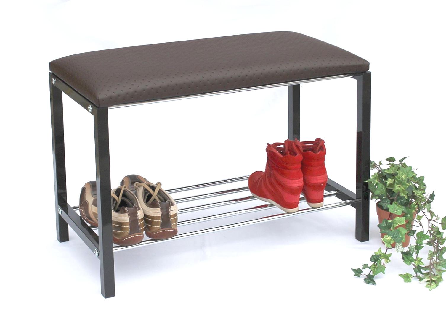 schuhregal mit sitzbank bank 70 cm schuhschrank. Black Bedroom Furniture Sets. Home Design Ideas