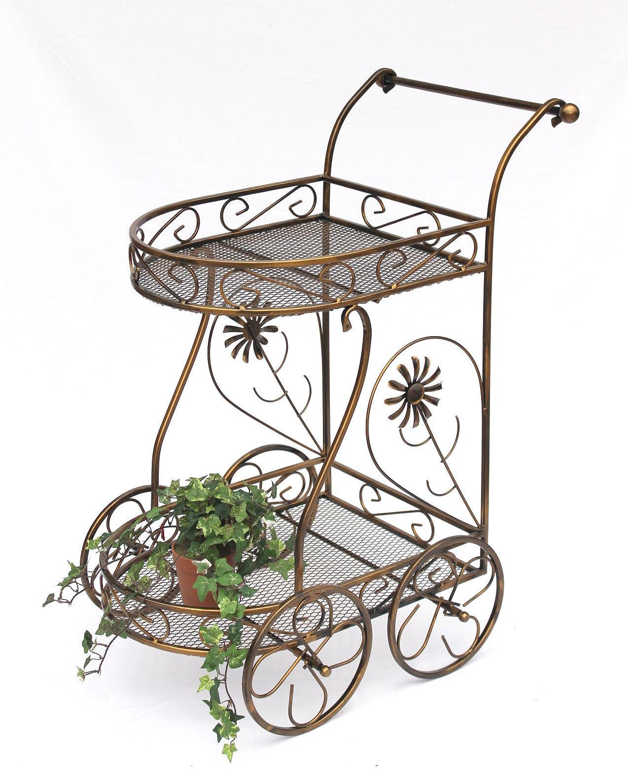 servierwagen aus metall 10 0759 beistelltisch 70 cm. Black Bedroom Furniture Sets. Home Design Ideas