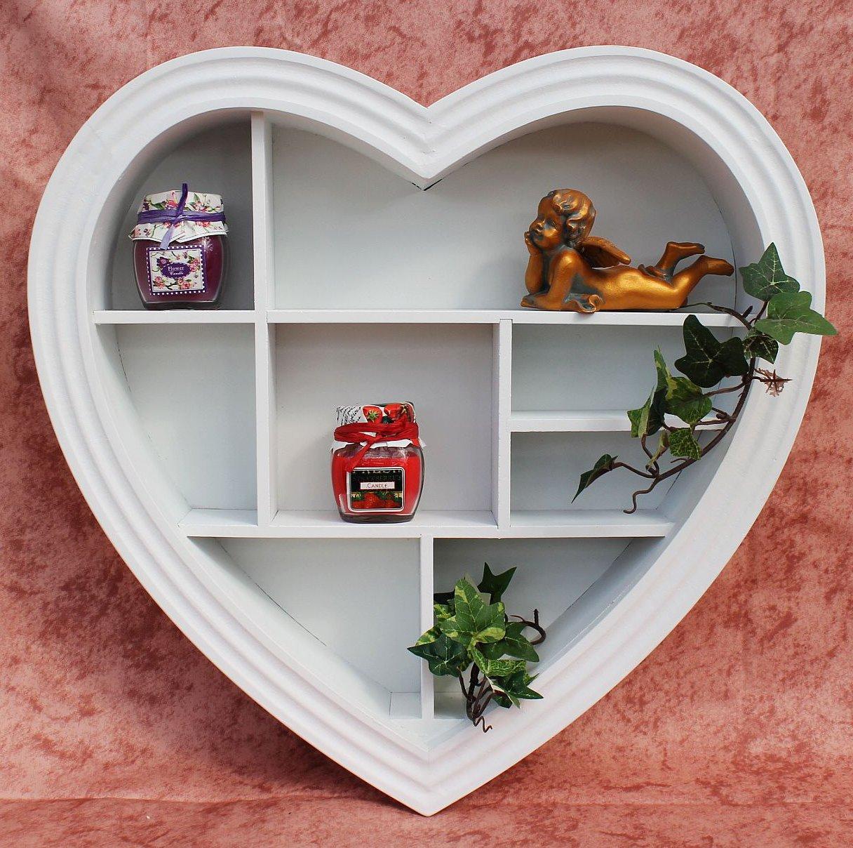 setzkasten herz 15k050 aus holz 40 cm wandregal sammlervitrine schaukasten regal ebay. Black Bedroom Furniture Sets. Home Design Ideas