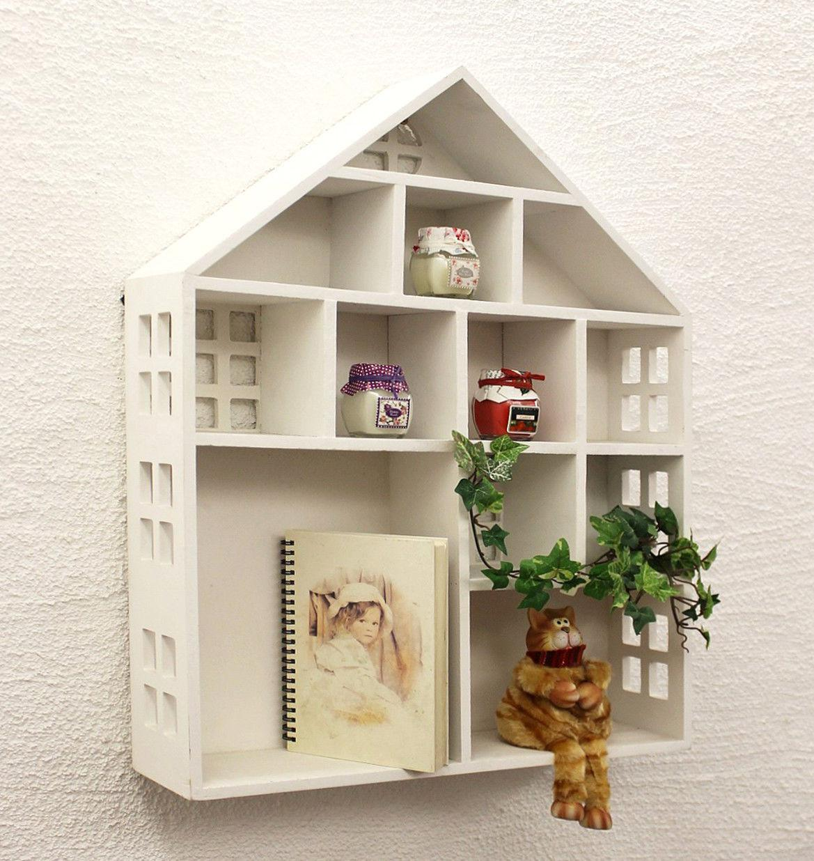 Seedbox Yx 14b176 Wallmounted Shelves White Shabby 60 Cm Display