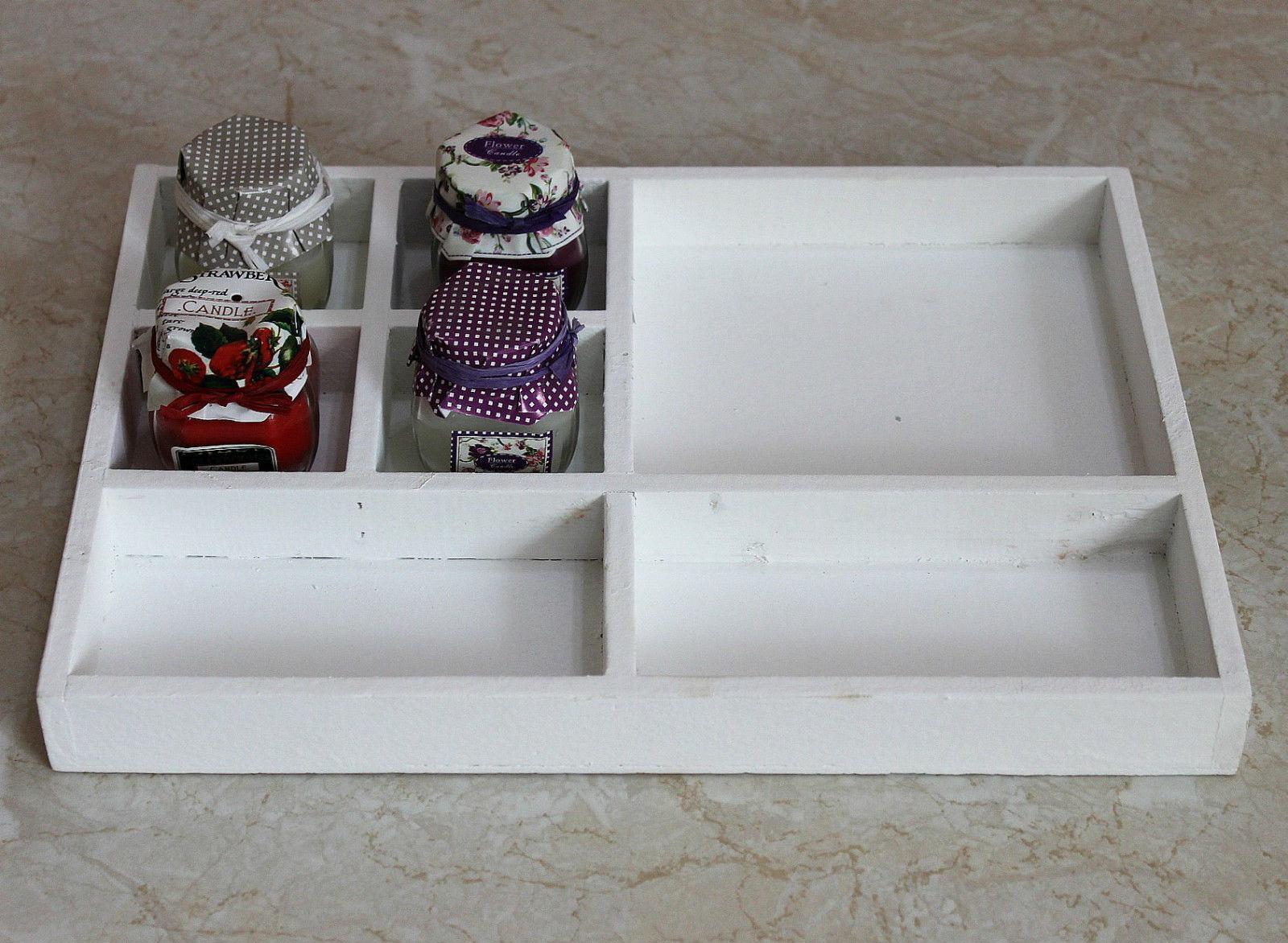 sortierkasten setzkasten 12291 wei 32 cm aus holz sammlervitrine sortierschubla ebay. Black Bedroom Furniture Sets. Home Design Ideas