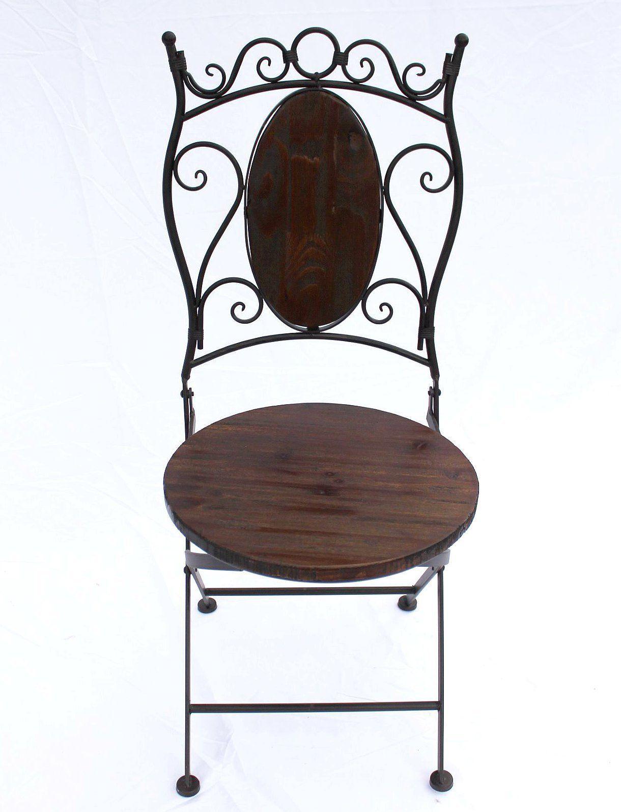 Chaise de jardin hx12581 bistrot 93 cm pliante m tal et for Jardin 93