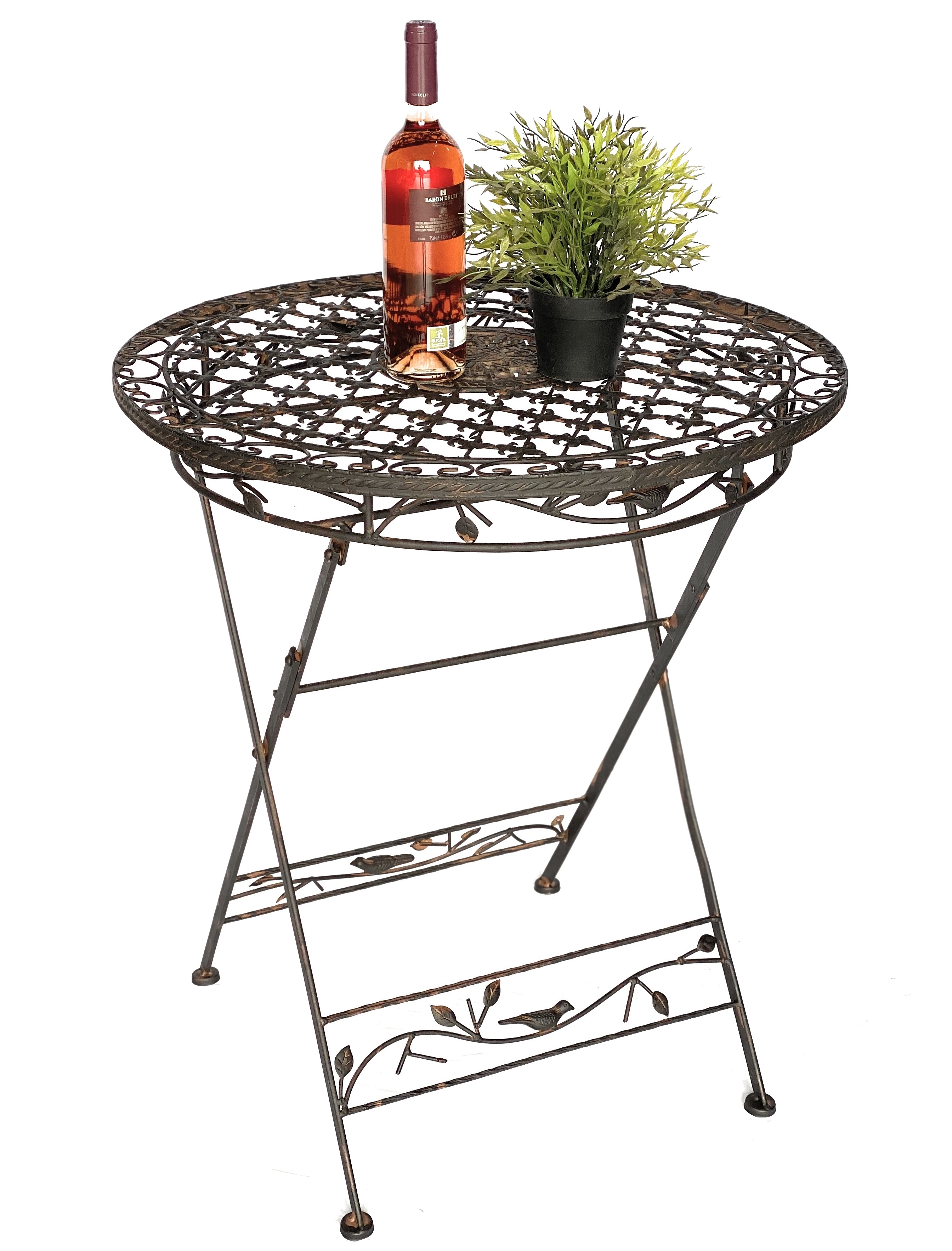 table Table pliante en métal 1850 fer forgé table de jardin table en ...