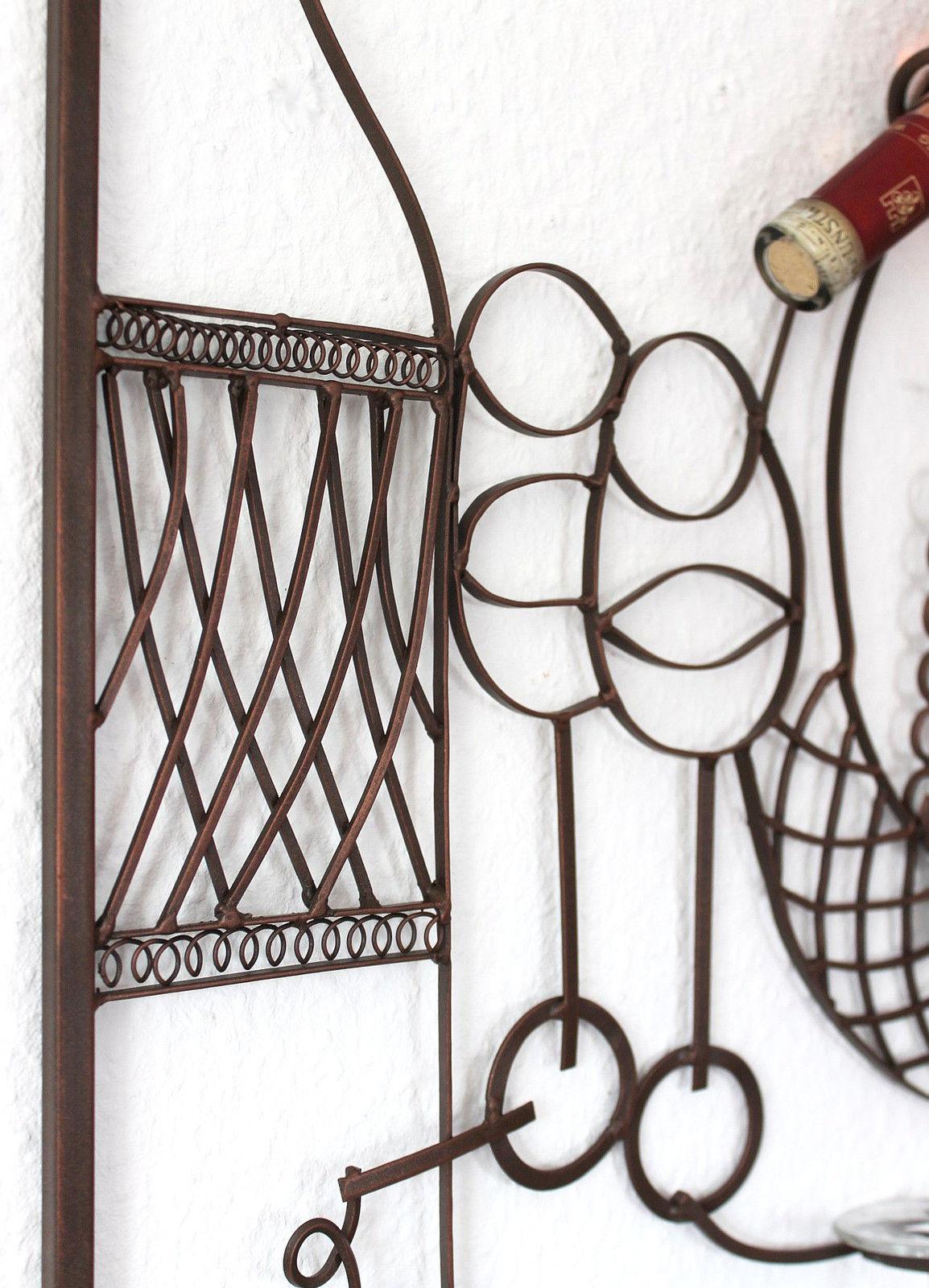 weinregal wandbild wand 091978 glashalter metall 65 cm flaschenhalter wandregal ebay. Black Bedroom Furniture Sets. Home Design Ideas