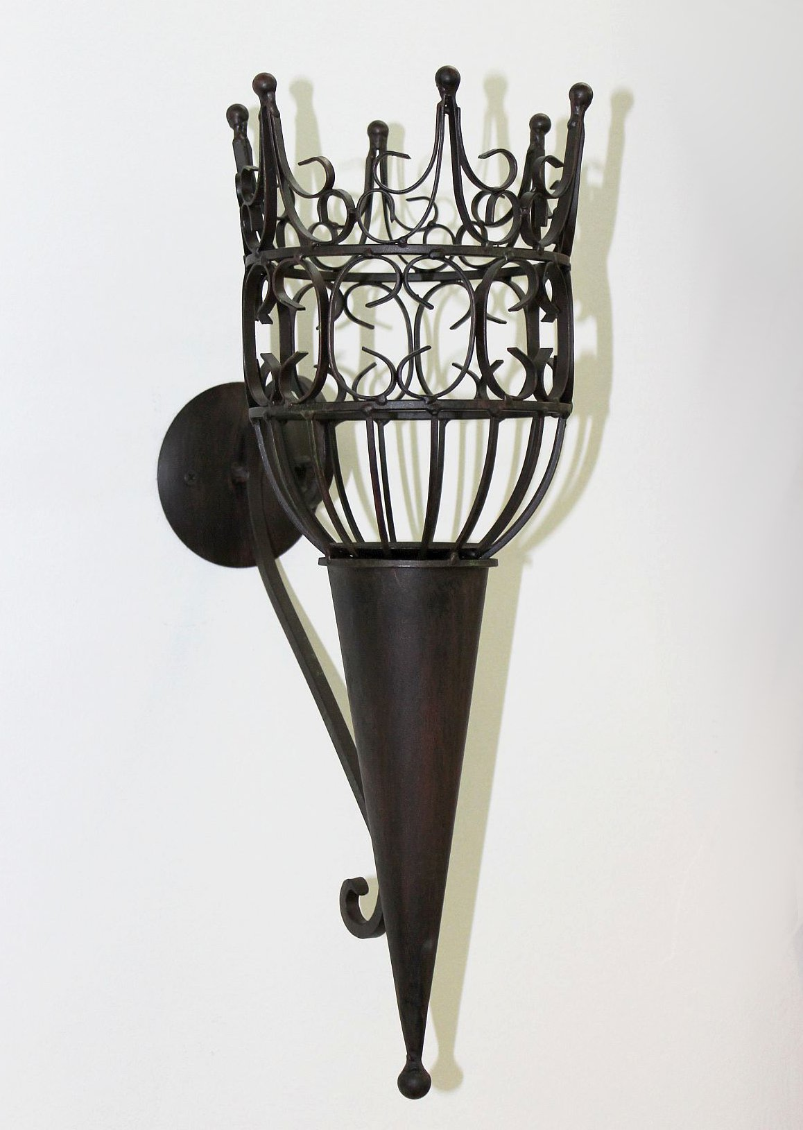 Sconce Castle 92066 Wall mounted candle holder metal ...
