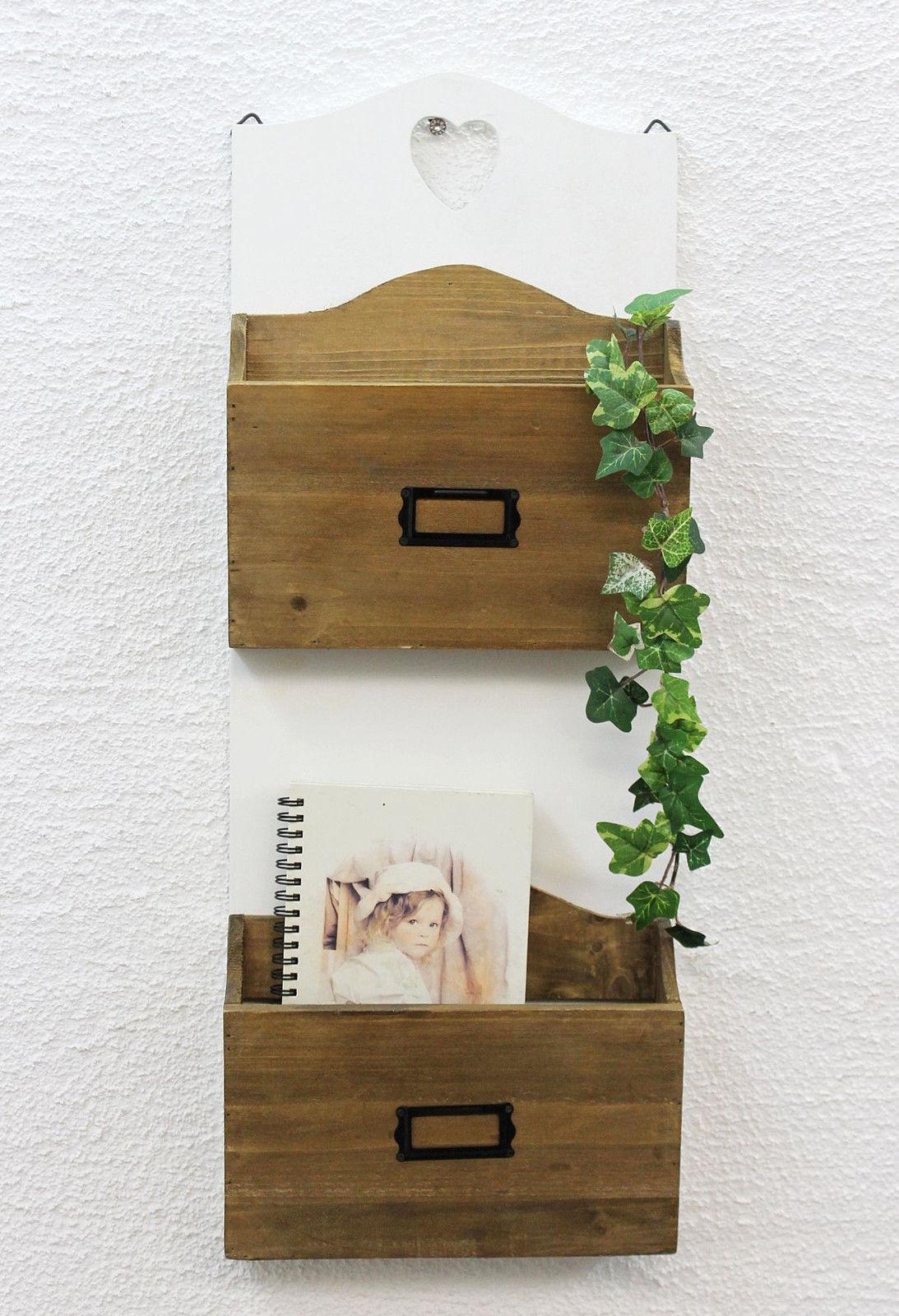 wandregal mit herz 12028 regal 60cm vintage shabby landhaus k chenregal wei ebay. Black Bedroom Furniture Sets. Home Design Ideas