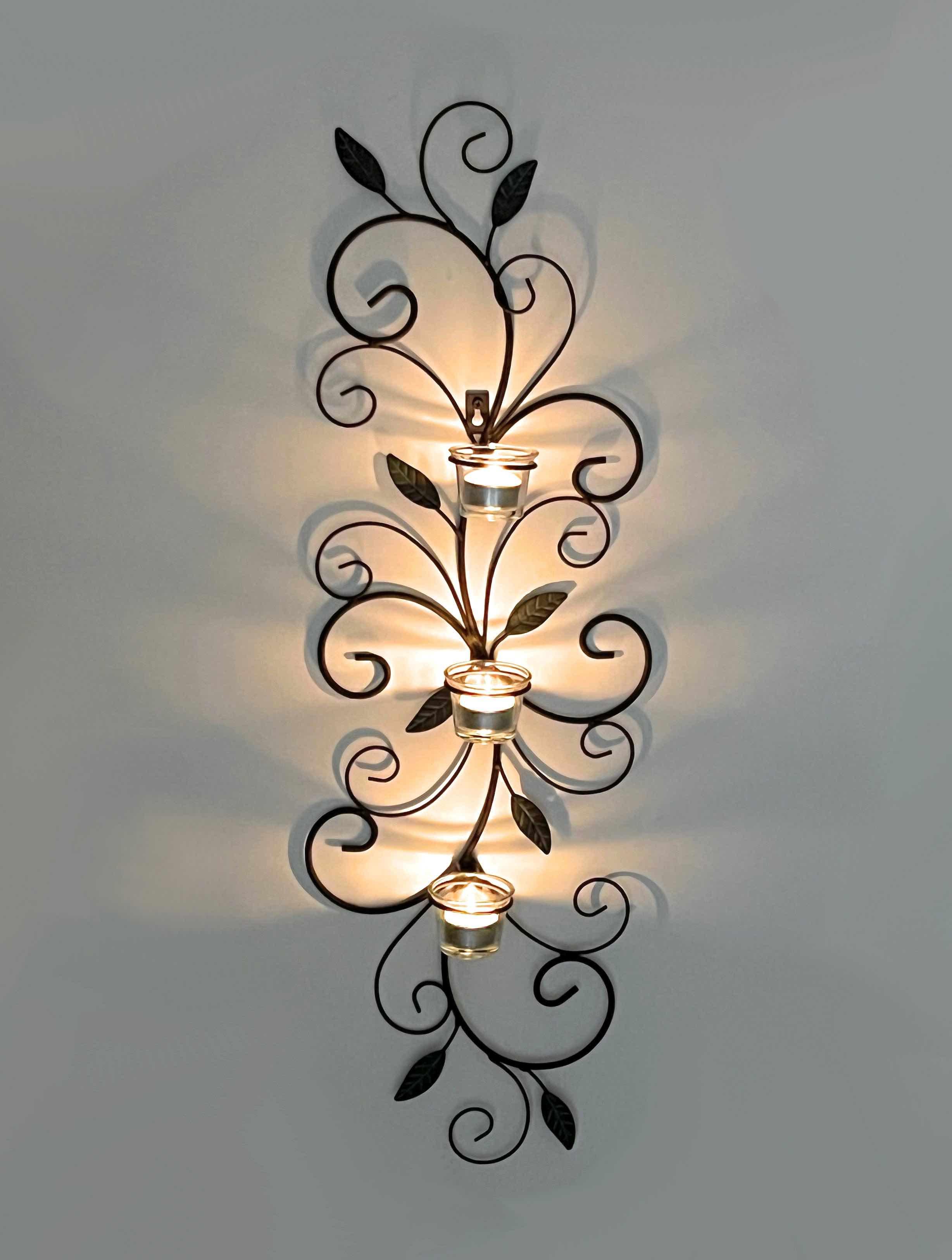 Wandteelichthalter 131001 Teelichthalter aus Metall 75cm ...
