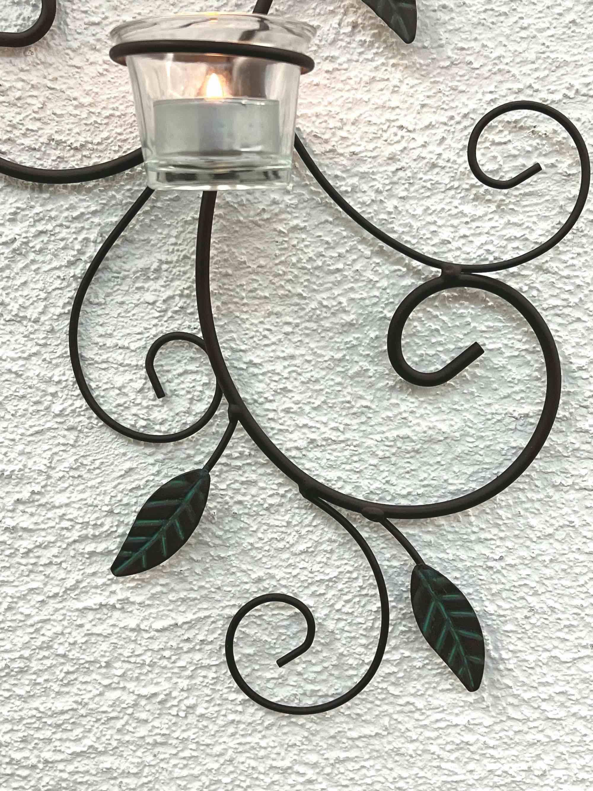 wandteelichthalter 131001 teelichthalter aus metall 75cm. Black Bedroom Furniture Sets. Home Design Ideas