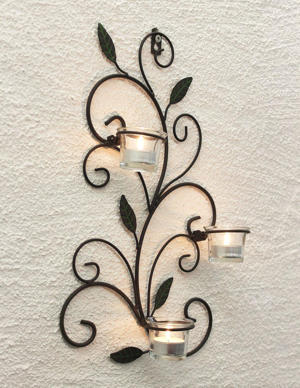 Wandteelichthalter 131001 teelichthalter de metal 75cm wandleuchter Vela
