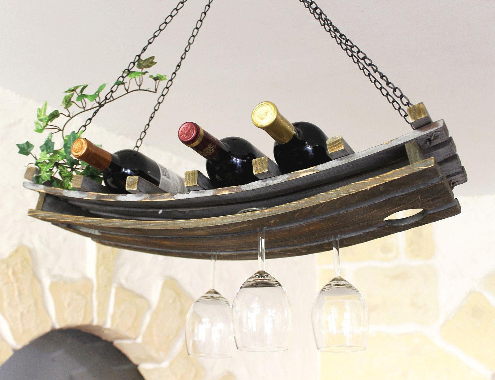 weinregal deckenregal holz 65cm h ngeregal flaschenhalter flaschenregal decke ebay. Black Bedroom Furniture Sets. Home Design Ideas