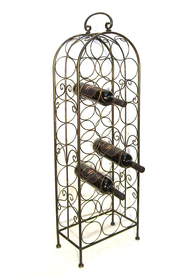 weinregal 94004 flaschenregal metall f r 26 flaschen 105 cm flaschenst nder rega ebay. Black Bedroom Furniture Sets. Home Design Ideas