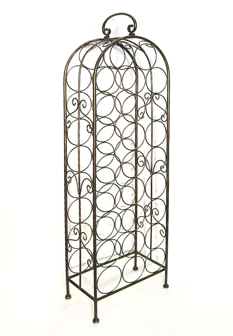 weinregal 94004 flaschenregal metall f r 26 flaschen 105. Black Bedroom Furniture Sets. Home Design Ideas