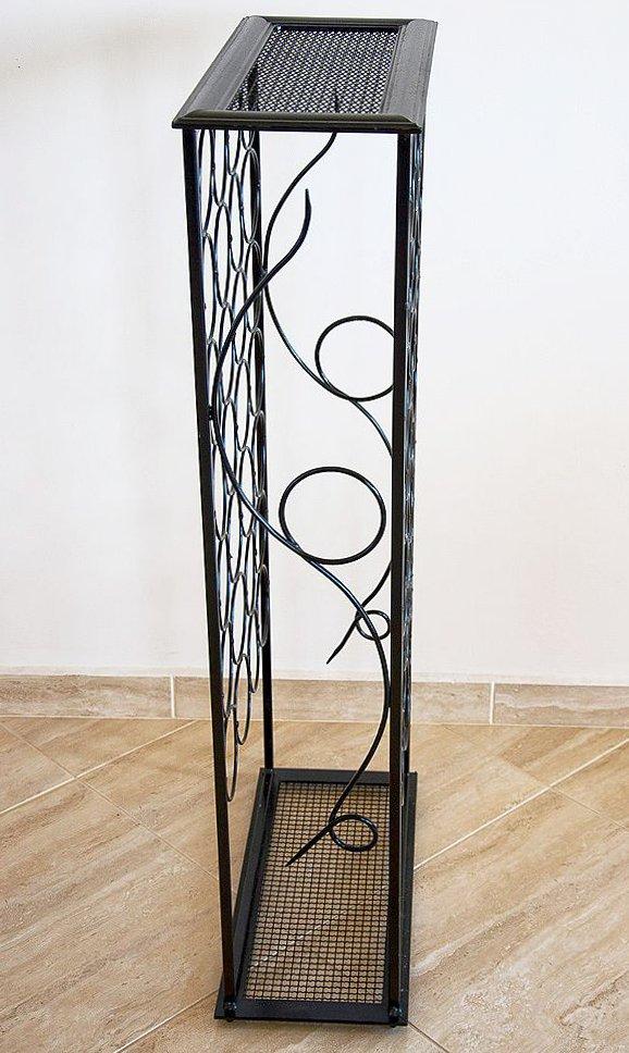 weinregal rico 100 cm flaschenst nder aus metall f r 28 flaschen regal ebay. Black Bedroom Furniture Sets. Home Design Ideas