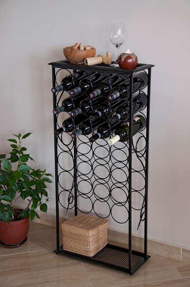 weinregal rico 100 cm flaschenst nder aus metall f r 28. Black Bedroom Furniture Sets. Home Design Ideas
