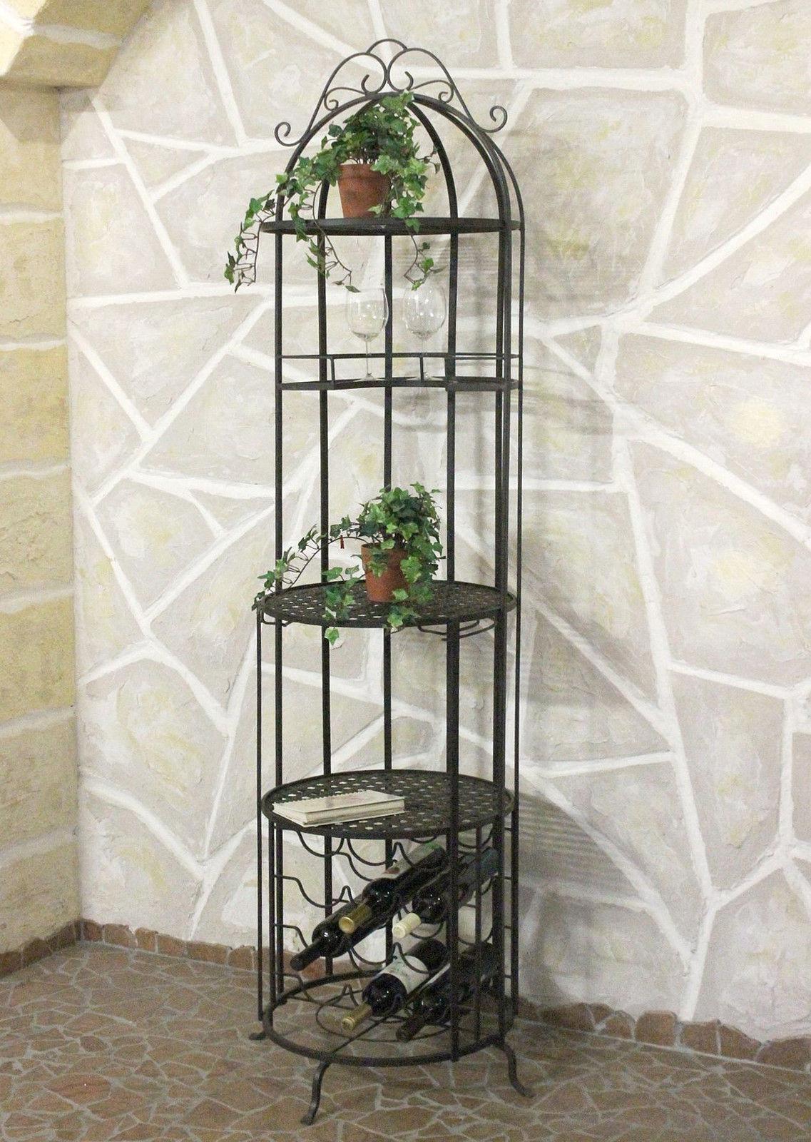 weinregal bar k fig aus metall 196 cm hausbar 130067 flaschenhalter weinschrank ebay. Black Bedroom Furniture Sets. Home Design Ideas