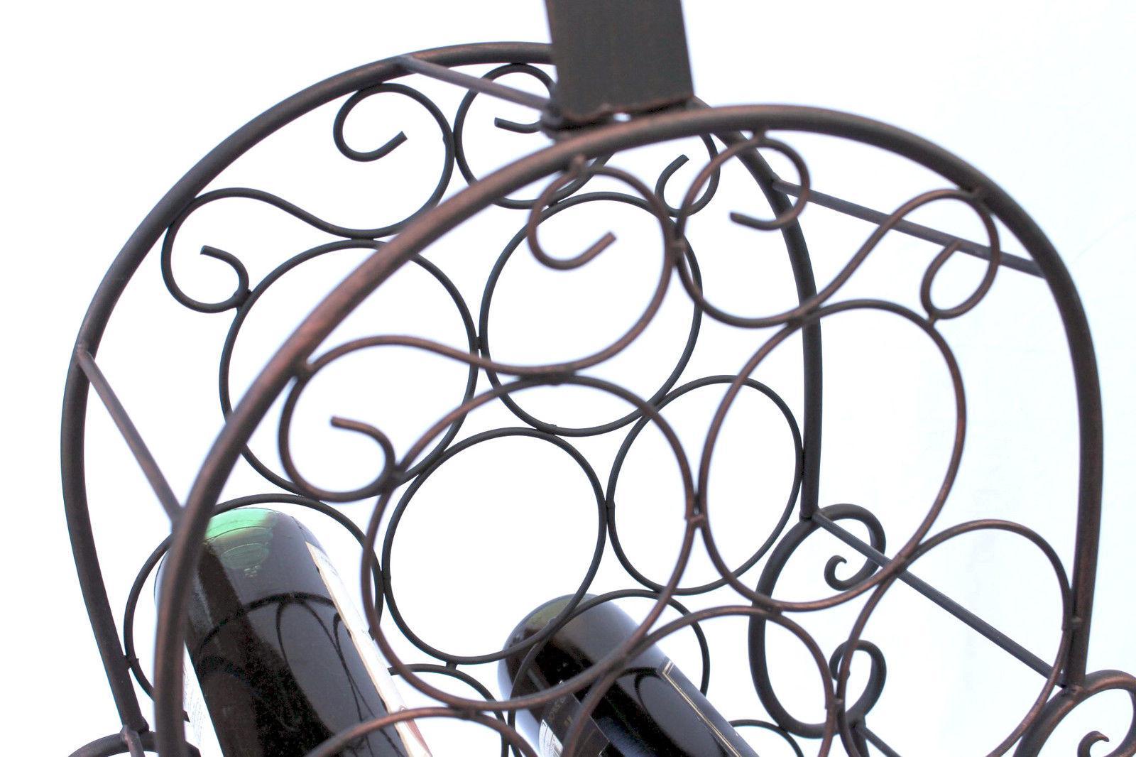 weinregal cello aus metall 100136 flaschenhalter 134 cm flaschenregal wein bar ebay. Black Bedroom Furniture Sets. Home Design Ideas