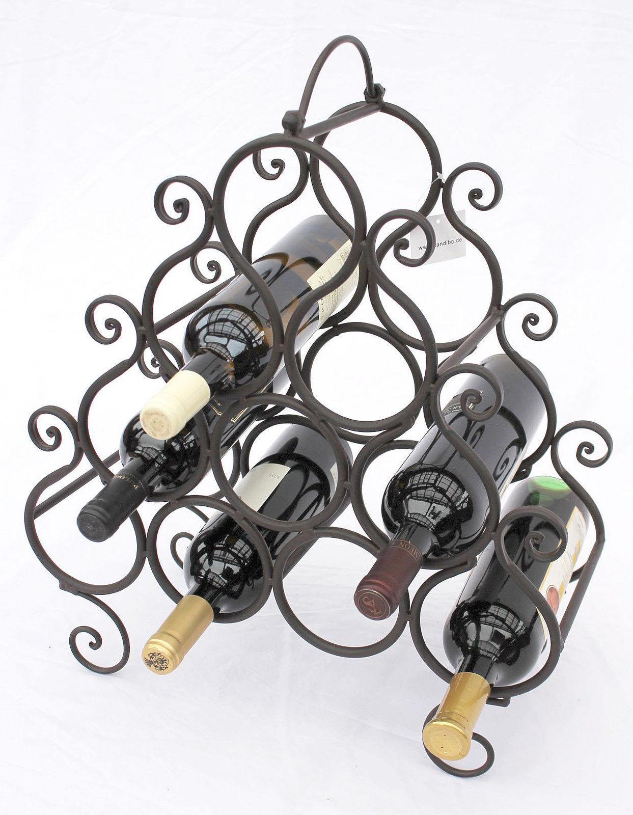 weinregal jc130060 aus metall f r 10 flaschen flaschenhalter 52 cm flaschenregal ebay. Black Bedroom Furniture Sets. Home Design Ideas