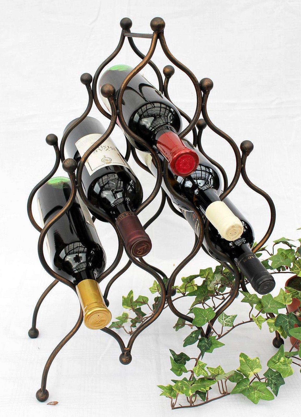 weinregal jd130406 aus metall f r 8 flaschen flaschenhalter 50 cm flaschenregal ebay. Black Bedroom Furniture Sets. Home Design Ideas