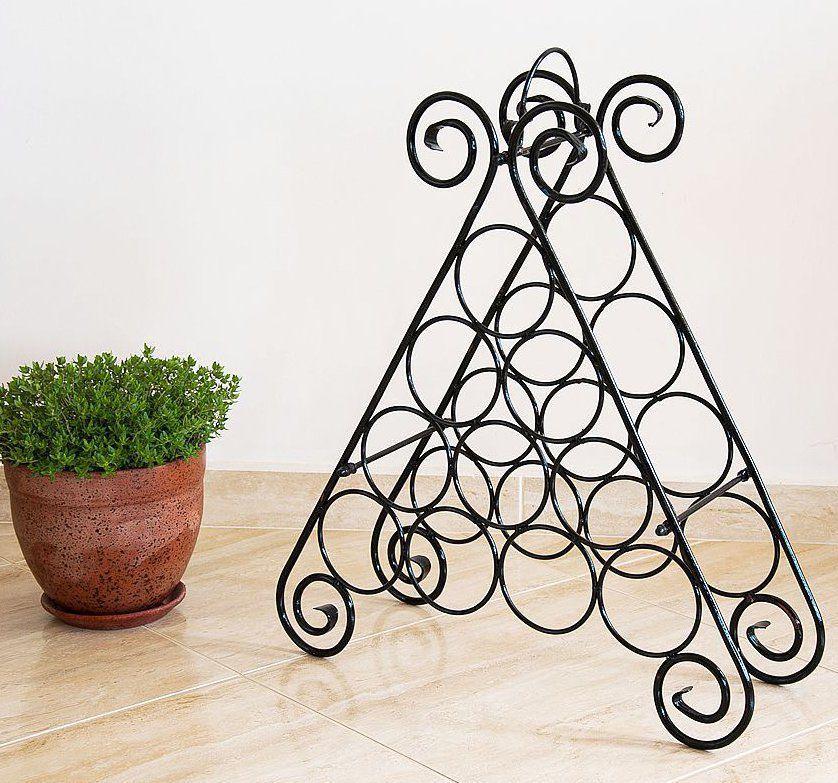 weinregal kalina pyramide aus metall f r 10 flaschen flaschenst nder regal 4019116116891 ebay. Black Bedroom Furniture Sets. Home Design Ideas