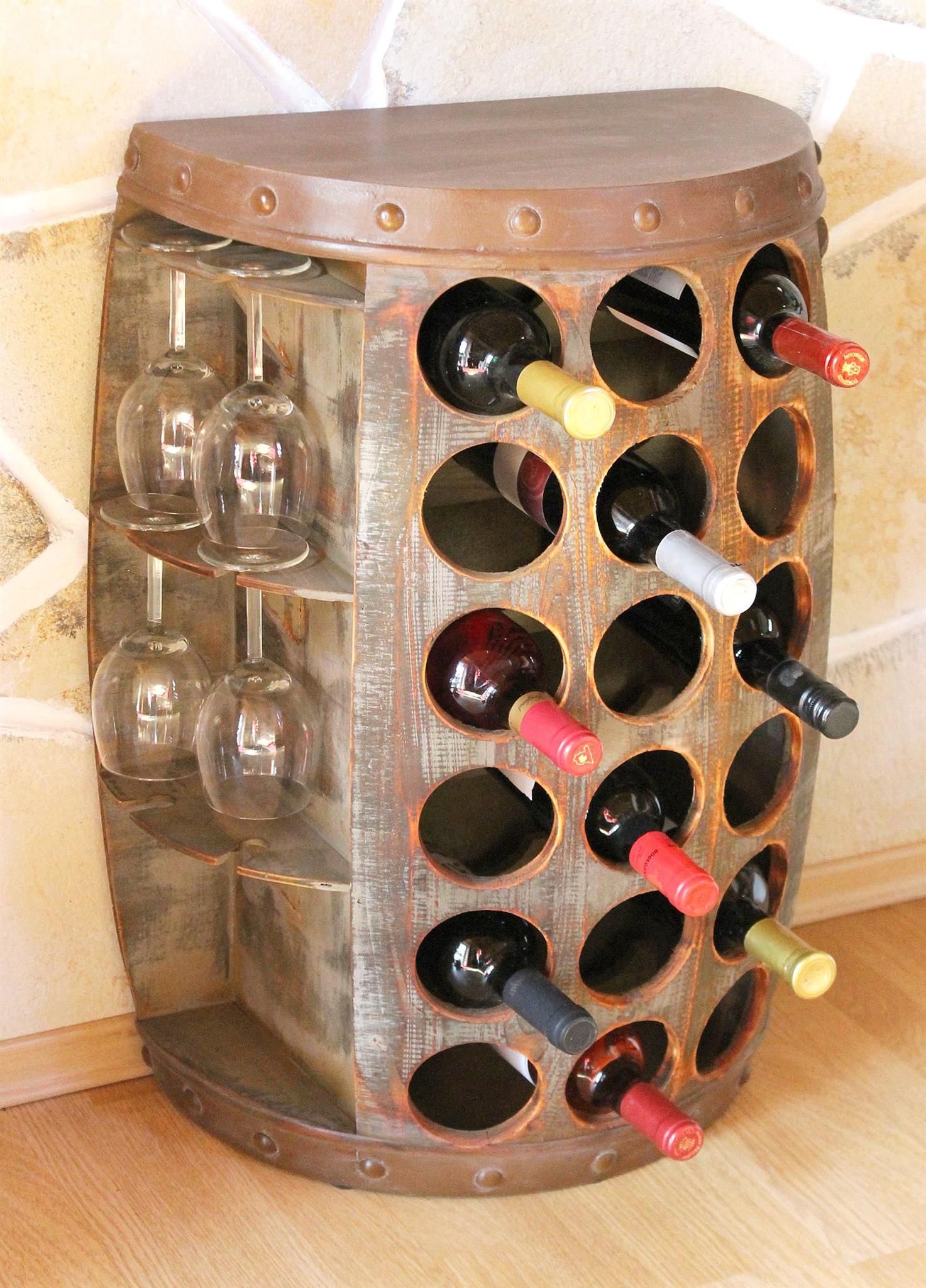 Weinregal Weinfass 1486 Beistelltisch Schrank Fass Weinständer ...