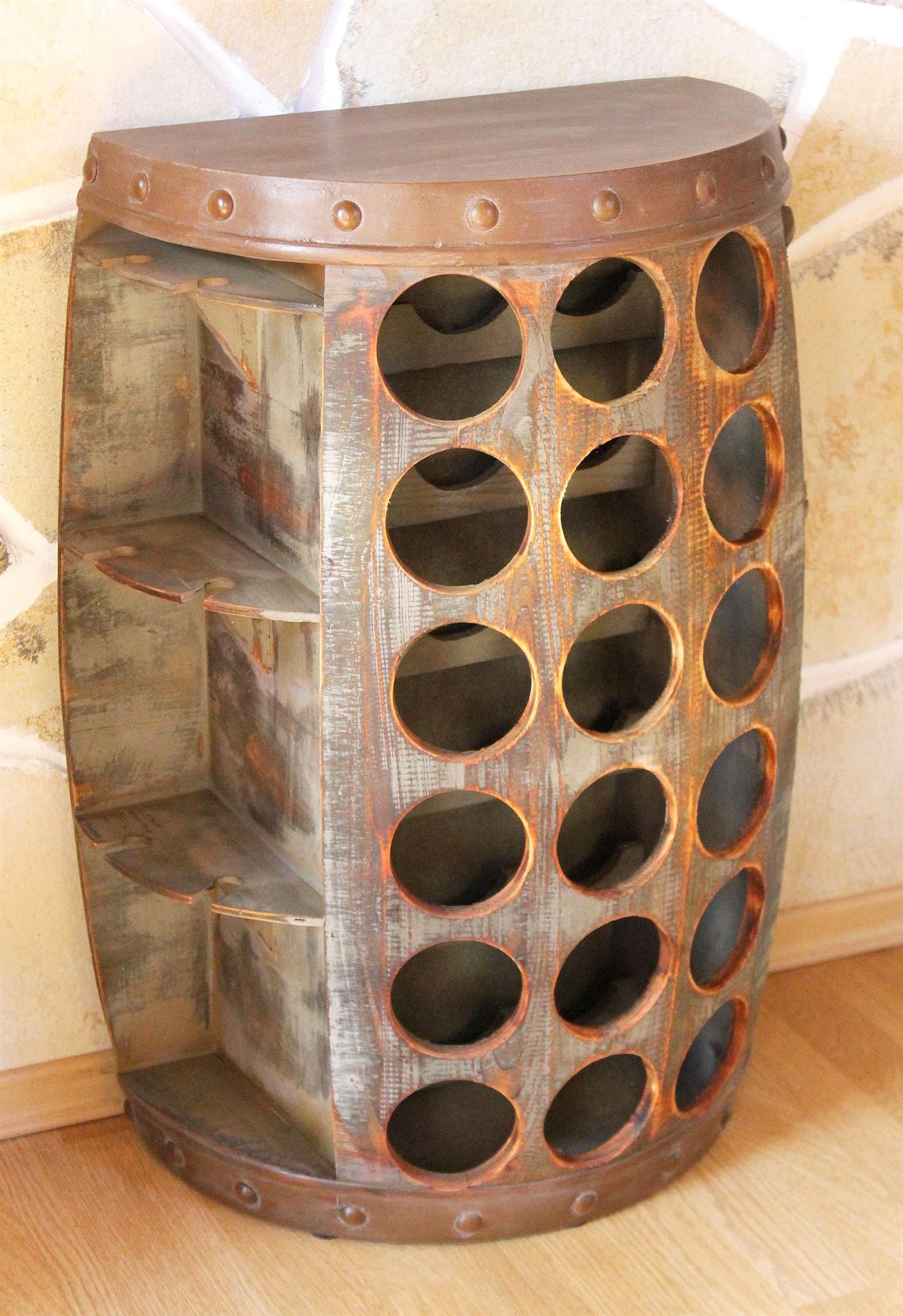 weinregal weinfass 1486 beistelltisch schrank fass. Black Bedroom Furniture Sets. Home Design Ideas