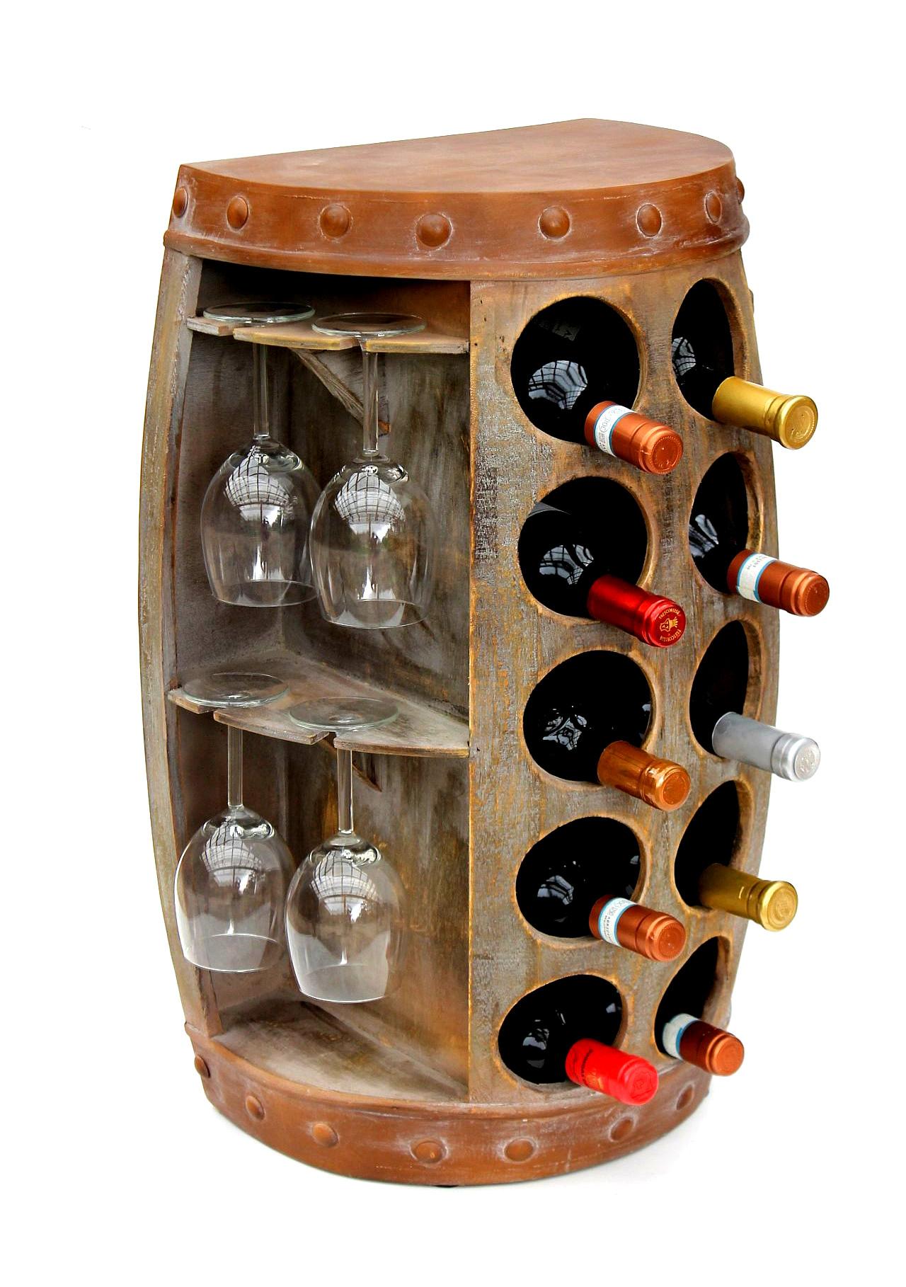 """Flaschenregal /""""Weinfass/"""" Weinregal Flaschenständer Weinständer freistehend"""