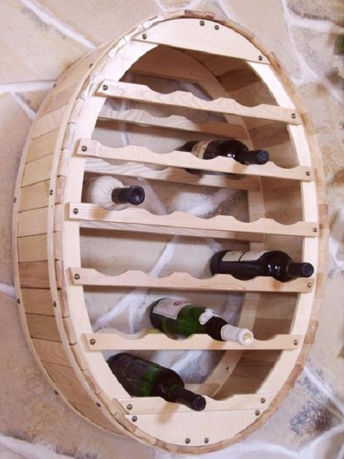 weinregal weinfass zum h ngen f r 24 flaschen natur lackiert wandregal bar ebay. Black Bedroom Furniture Sets. Home Design Ideas