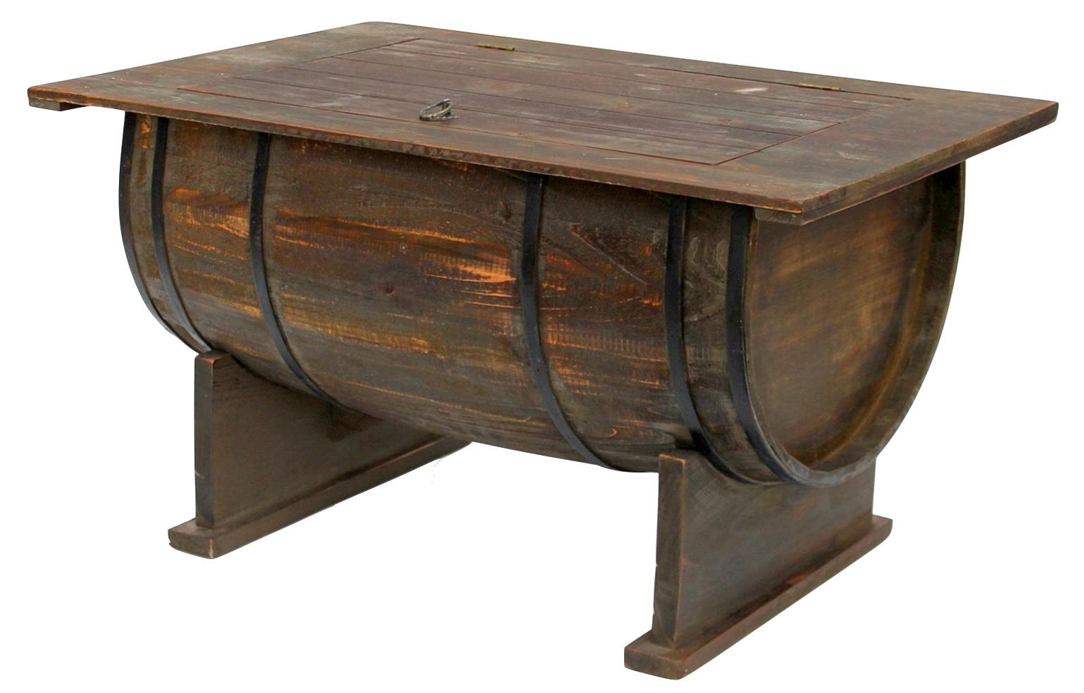 Détails sur Table Tonneaux de Vin 5084-H Basse Bois 80cm D\'Appoint Cuve  Étagère à Vintage