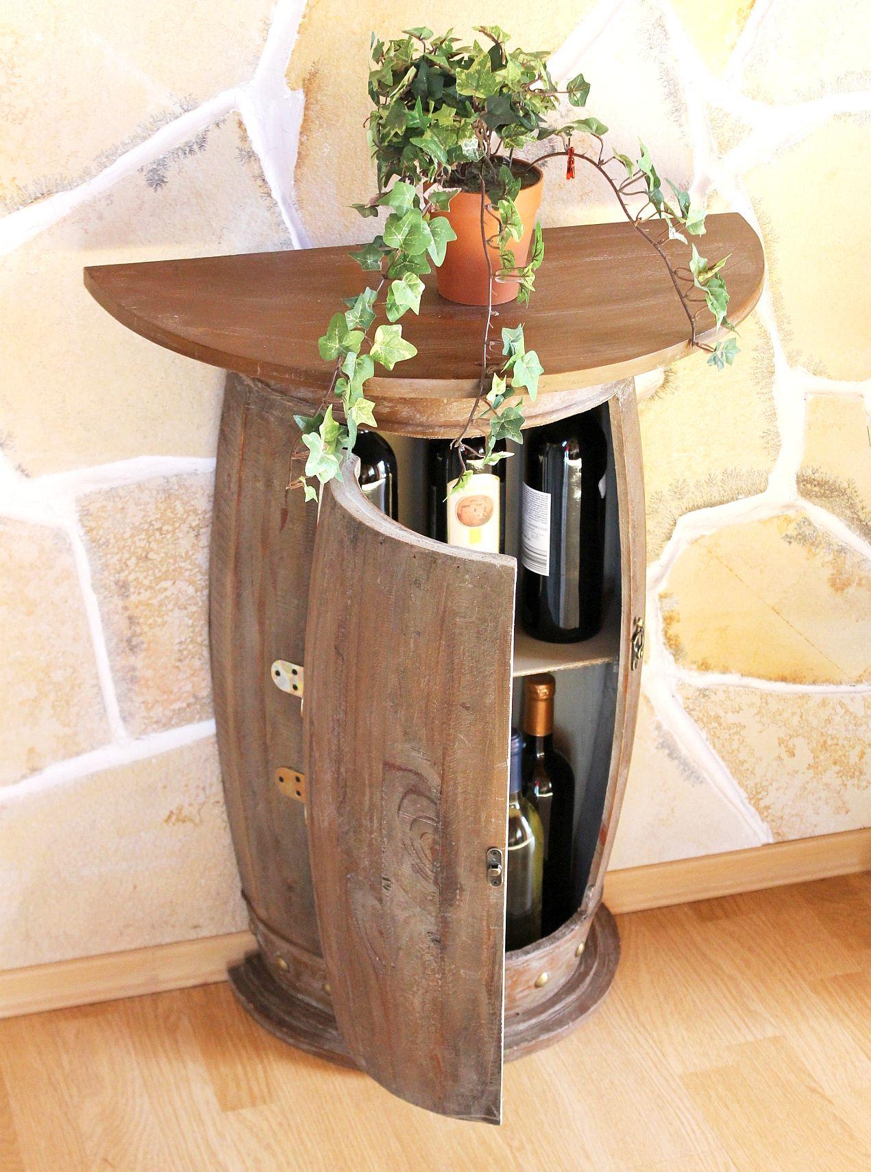 wandtisch tisch weinfass 0373 r braun schrank weinregal. Black Bedroom Furniture Sets. Home Design Ideas
